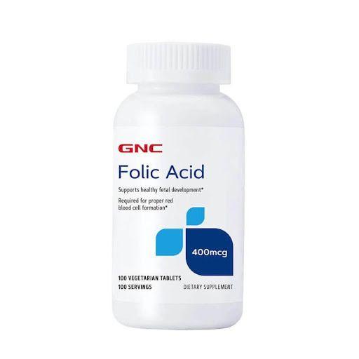 GNC Folic Acid Фолиева Киселина 400 мкг х100 таблетки