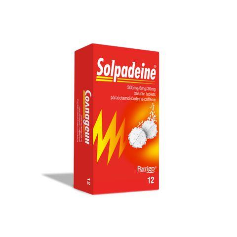 Солпадеин Разтворими таблетки при болка и висока температура х12 бр