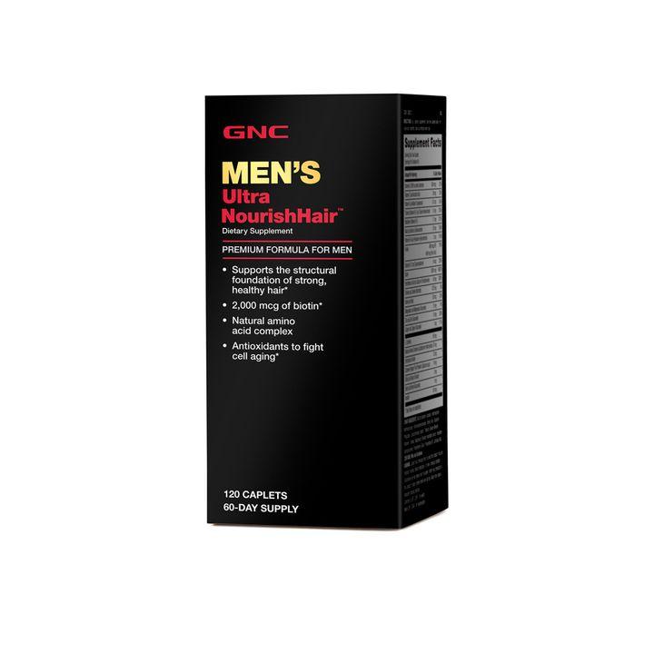 GNC Mens Ultra Nourish Hair Витамини за мъже за подхранване на косата х120 каплети