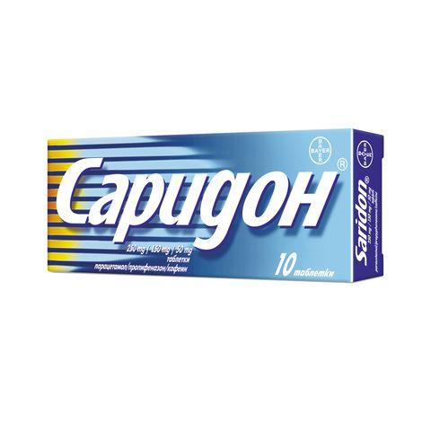 Bayer Саридон при главоболие и висока температура х10 табетки