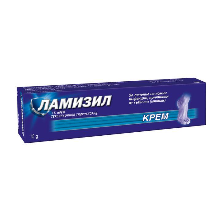 Ламизил Крем за лечение на кожни инфекции, причинени от гъбички (микози) 1% х15 грама