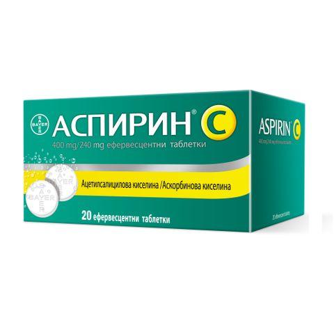 Bayer Аспирин C 400 mg/240 mg х20 ефервесцентни таблетки
