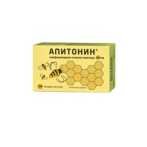 Апитонин за тонус и енергия 60 мг х20 капсули