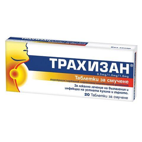 Трахизан х20 таблетки за смучене