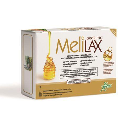 Aboca Мелилакс Педиатрик микроклизма за деца и кърмачета при запек 10 грама х6 броя