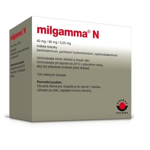 Mилгамма N  40 mg/90 mg/250 микрограма х100 меки капсули