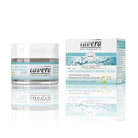 Lavera Basis Sensitive Био дневен овлажняващ крем против стареене за лице х50 мл
