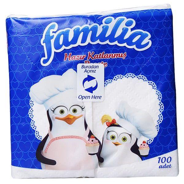 Familia Сгънати салфетки x100 броя
