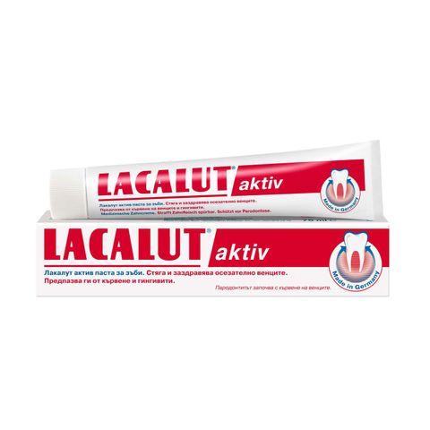 Lacalut Aktiv Паста за зъби против кървене и гингивит x75 мл