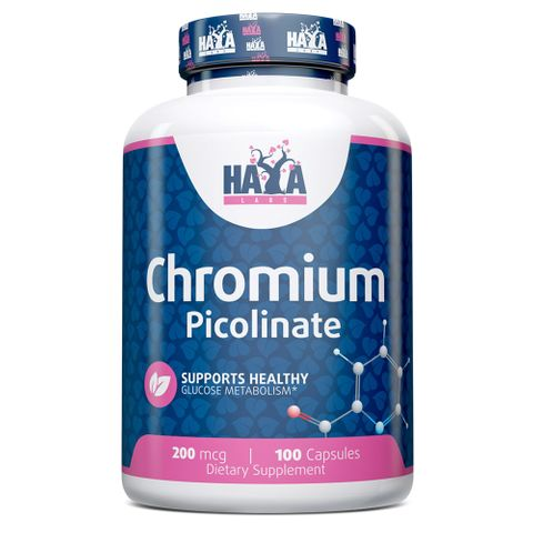 Haya Labs Хром Пиколинат за регулиране на кръвната захар 200 мкг х 100 капсули