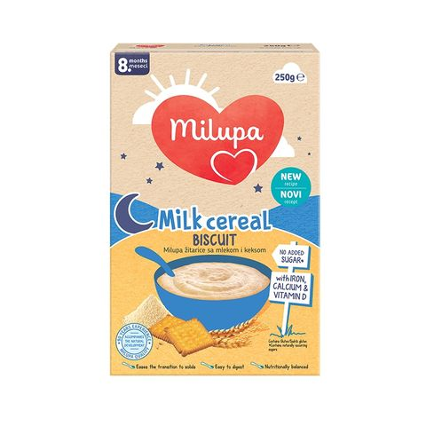Milupa Млечна бисквитена каша за деца над 8 месеца х250 грама