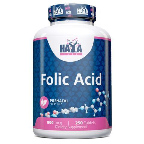 Haya Labs Фолиева киселина срещу сърдечни заболявания 800 мкг х250 таблетки