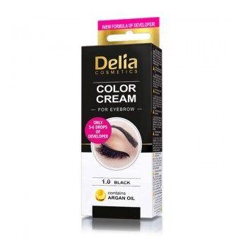 Delia Color Cream Крем-къна за вежди, цвят 1.0 Черен х1 брой