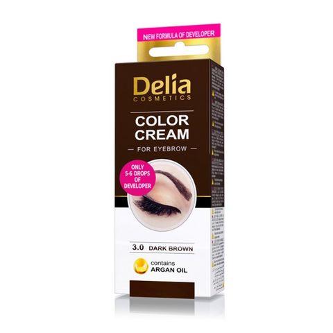 Delia Color Cream Крем-къна за вежди, цвят 3.0 Тъмно кафяв х1 брой