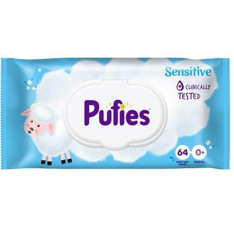 Pufies Sensitive Olive Oil Бебешки мокри кърпи със зехтин за чувствителна кожа х64 броя