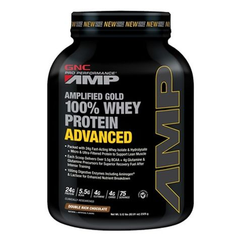 GNC Pro Performance AMP Gold Суроватъчен протеин с вкус на двоен шоколад  х2325 грама