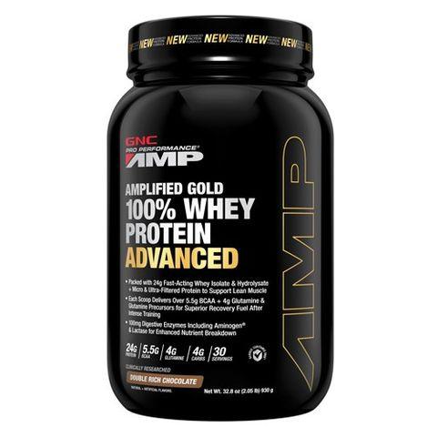 GNC Pro Performance AMP Gold Суроватъчен протеин с вкус на двоен шоколад  х930 грама