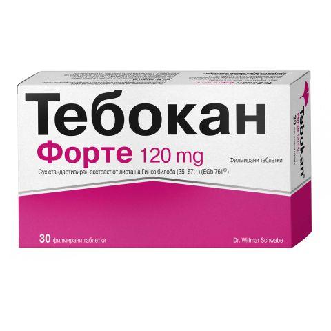 Тебокан Форте за памет и концентрация 120 мг х30 таблетки Naturprodukt