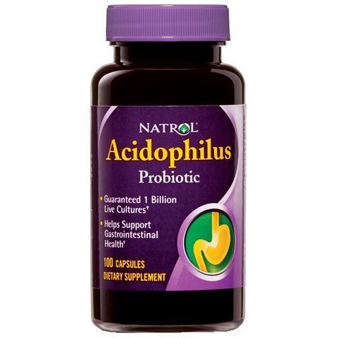 Natrol Ацидофилус пробиотик 100мг x100капсули
