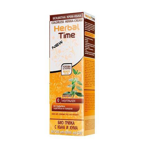 Herbal Time Безцветна крем - къна за коса, цвят 0 Неутрален х75 мл