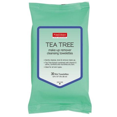 Adwin Purederm Мокри кърпи с чаено дърво х30 броя
