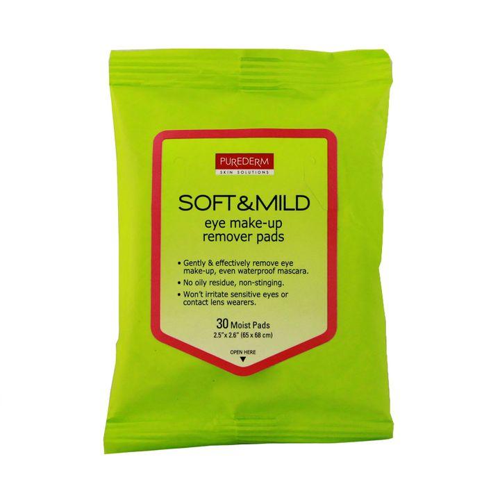 Purederm Мокри кърпи за почистване на грим в околоочна зона х30 броя