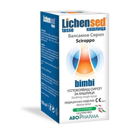 Lichensed Успокояващ балсамов сироп за кашлица х100 мл Abopharma