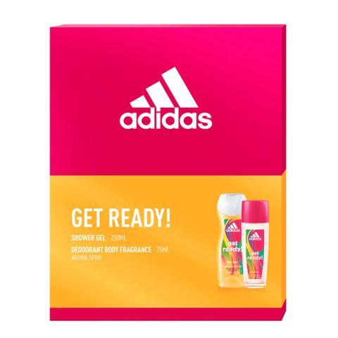 Adidas Get Ready Дамски промо комплект Тоалетна вода и Душ-гел за тяло