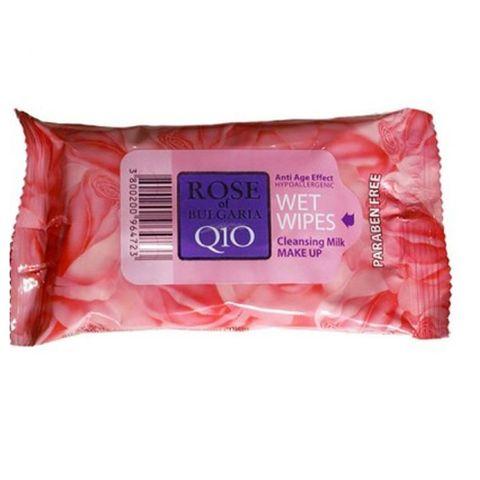 Bio Fresh Rose Мокри кърпи за грим против стареене с розова вода х15 броя