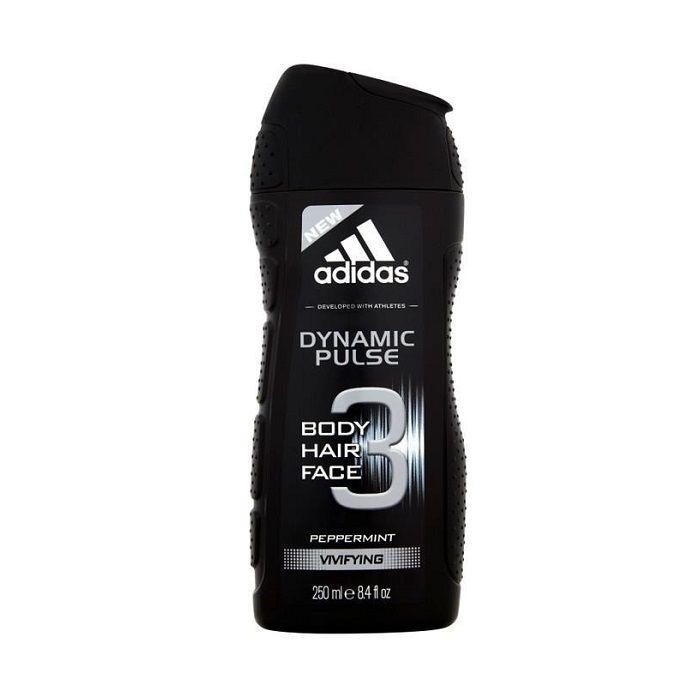 Adidas Dynamic Pulse 3in1 Мъжки душ гел за коса и тяло с мента х250 мл