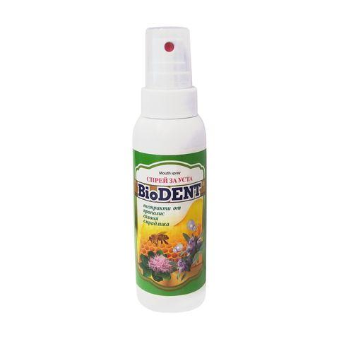 BioDent Освежаващ спрей за уста с екстракт от прополис, славия и смрадлика х80 мл