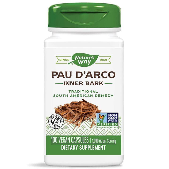 Pau d'Arco Мравчено дърво при вирусни, бактериални и гъбични инфекции 545 мг х100 капсули Nature's Way