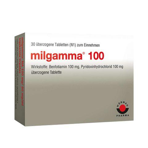 Милгамма 100 100 mg / 100 mg х30 обвити таблетки