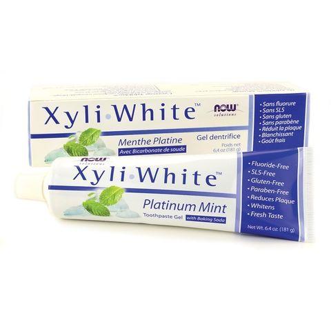 Now Foods Xyli White Platinum Mint Избелваща паста за зъби х182 гр
