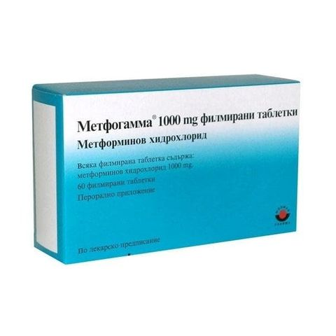 Метфогамма 1000 mg х60 филмирани таблетки