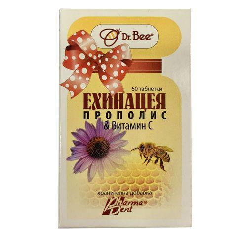 Dr. Bee Ехинацея, прополис и витамин C х60 таблетки