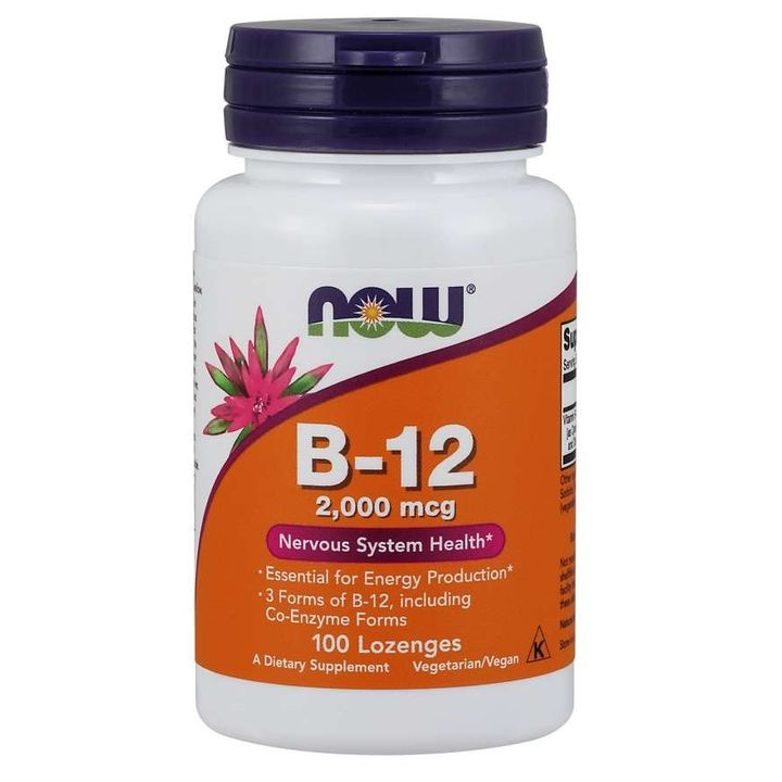 Now Foods Витамин В-12 2000 мкг х100 таблетки за смучене