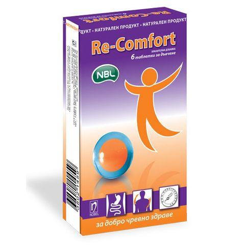Re-Comfort Таблетки за дъвчене за добро чревно здраве х6 броя Nobel Pharma