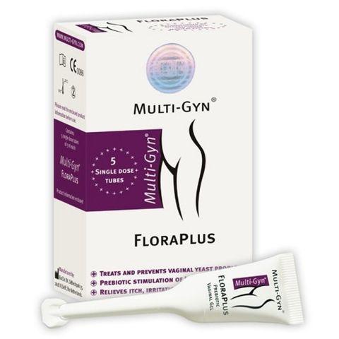 Multi-Gyn FloraPlus Вагинален гел за нормализиране на вагиналната микрофлора 5 дози x5 мл
