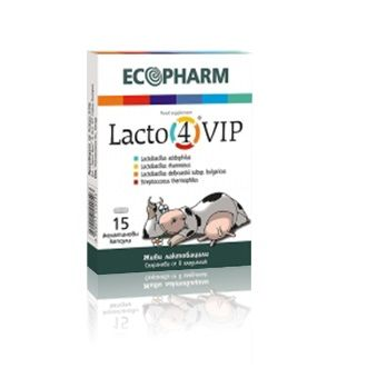 Лакто 4 ВИП Пробиотик за здрава чревна микрофлора и висок имунитет х15 капсули - Ecopharm