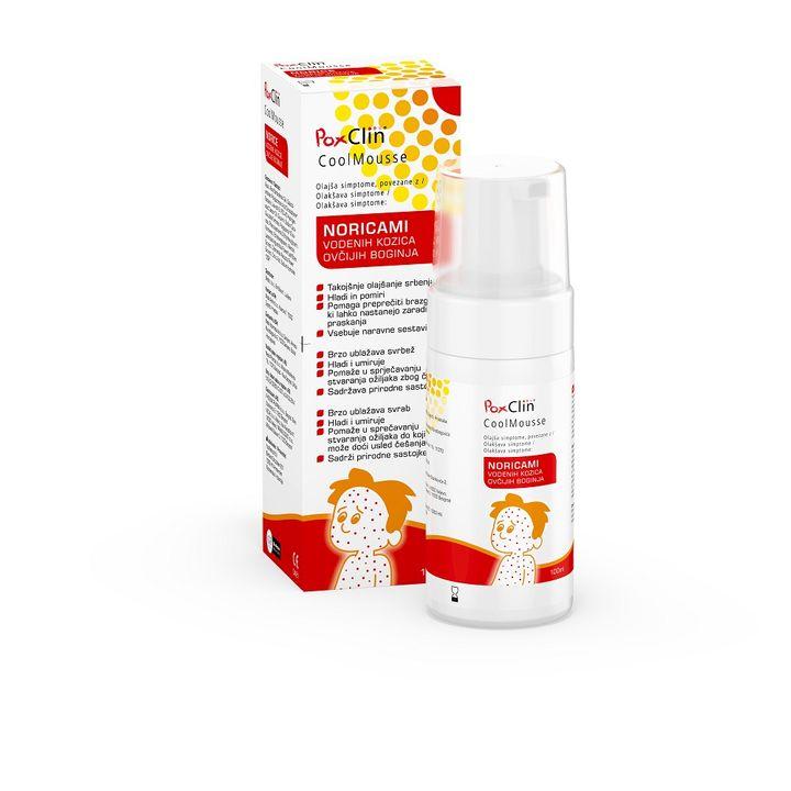 PoxClin Успокояваща пяна за кожа за деца с варицела х100мл