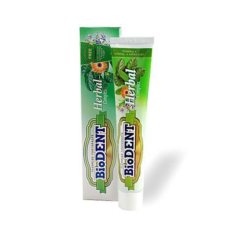 BioDent Herbal Complex Полираща паста за зъби против плака с с ментов вкус х75 мл