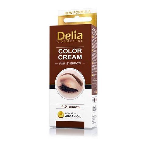 Delia Color Cream Крем-къна за вежди, цвят 4.0 Кафяв х1 брой