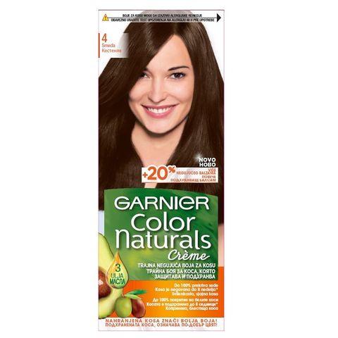 Garnier Color Naturals Трайна боя за коса, 4 Кестеняв