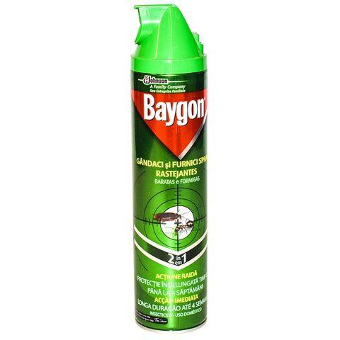 Baygon 2in1 Аерозол срещу хлебарки и мравки x400 мл