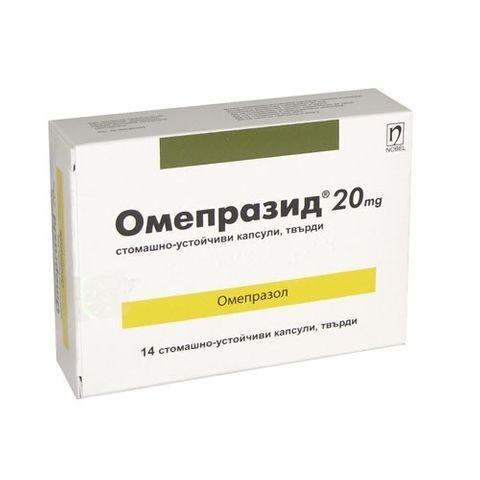 Омепразид при киселини в стомаха 20 мг х14 таблетки Nobel Pharma