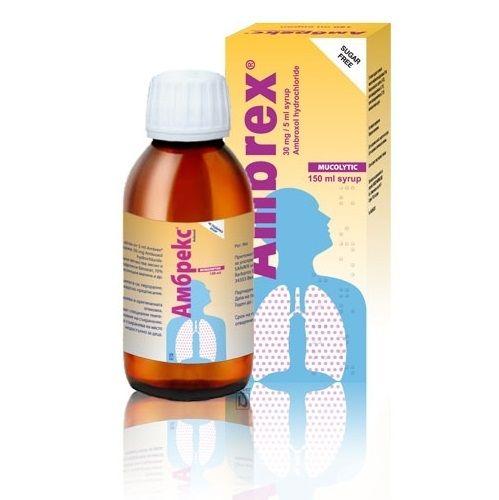 Амбрекс Сироп при кашлица х150 мл Nobel Pharma