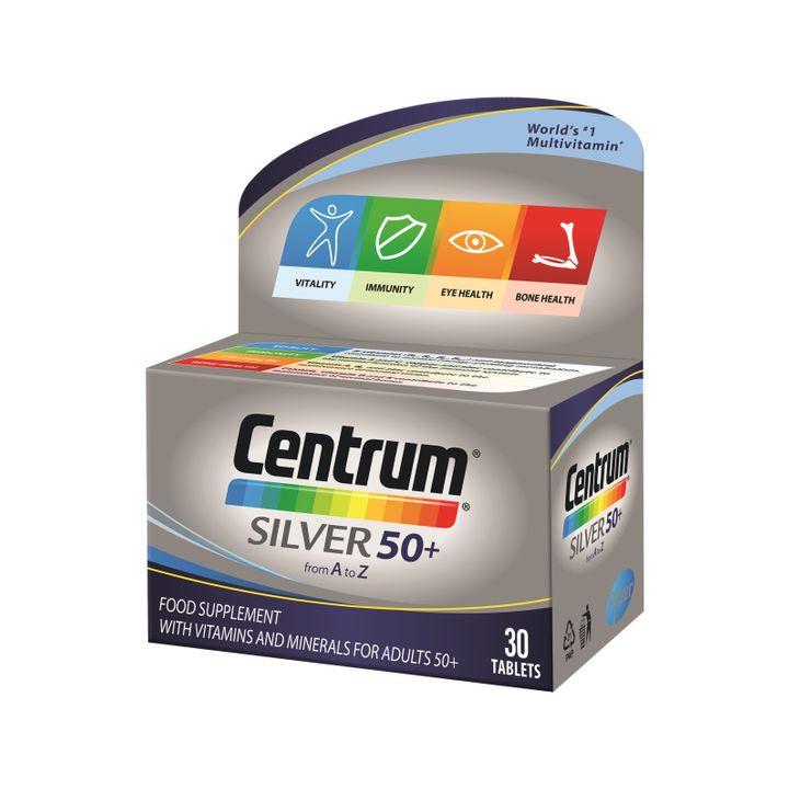 Centrum Silver 50+ Витамини и минерали за хора на възраст над 50 години х30 таблетки