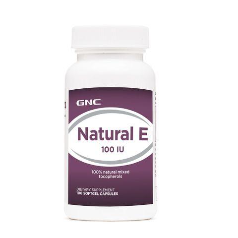 GNC Natural Vitamin E Натурален Витамин Е 100 IU х100 меки капсули