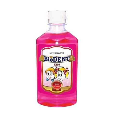 BioDent Kids Освежаваща вода за уста за деца с ягодов вкус х300 мл